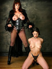 Submissive slave worships ..